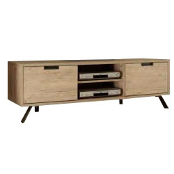 Mueble tv madera roble
