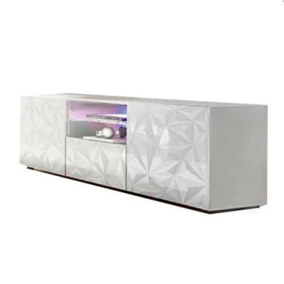 Mueble tv blanco brillo
