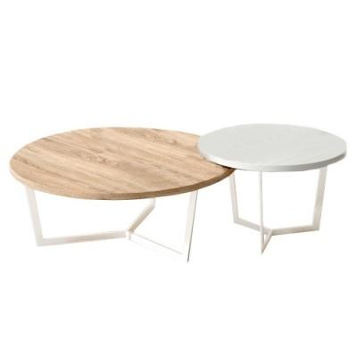 Set mesas de centro redondas