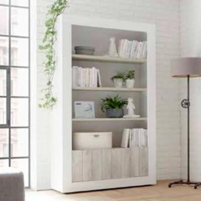 Librero con puertas y baldas
