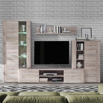Mueble salón modular roble...