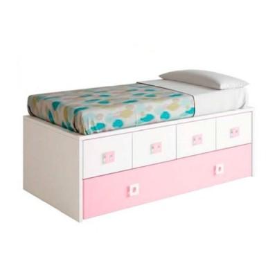 Compacto con cajones y cama de arrastre