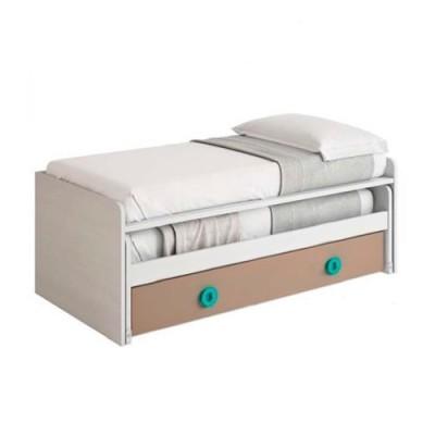 Cama nido compacta con cama de arrastre