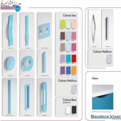 Silla de cocina con colores disponibles en respaldo