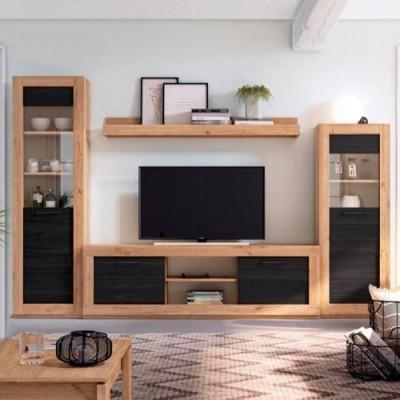 Composición de salón madera...