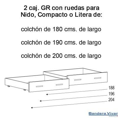 Composición de salon 269 cms con leds Nelson/blanco