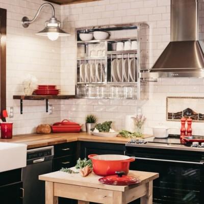 Cocina Boho Chic con azulejos